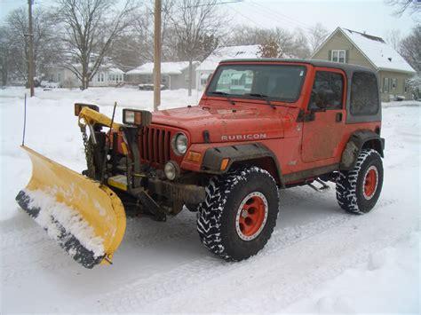 jeep wrangler plow jeep yj fisher plow
