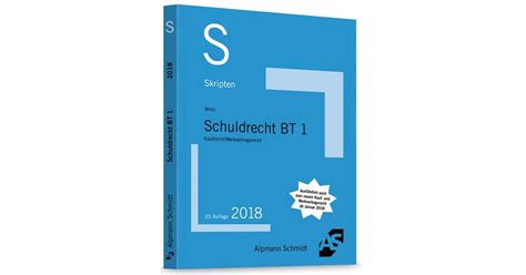 Skript Schuldrecht Bt 1 Wirtz 20 Auflage 2018 Buch