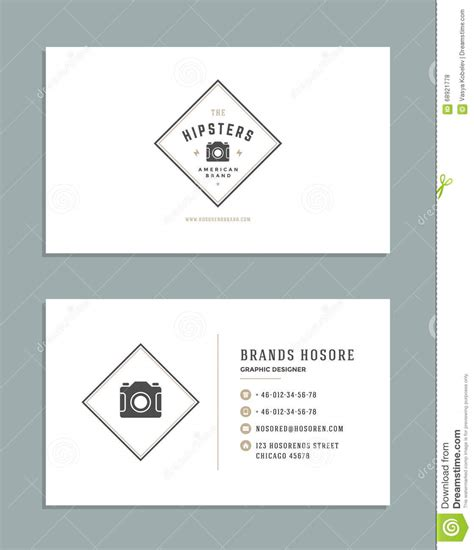 symbols business card templates business card design and retro logo template vector