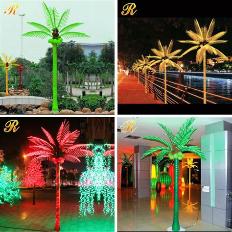 led palm trees for sale decoration electric artificial outdoor plastic lighted led palm trees for sale view palm