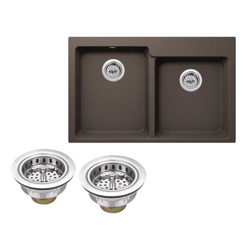 kitchen sink co ipt sink company drop in granite composite 33 in 4 hole