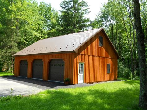 garage barns custom pole building garage precise buildings