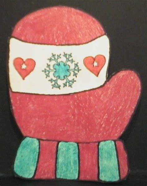 Dltk Paper Crafts - winter mittens paper craft