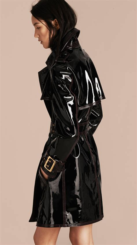 pvc vinyl trench coats trench coats for women burberry leather trench coat