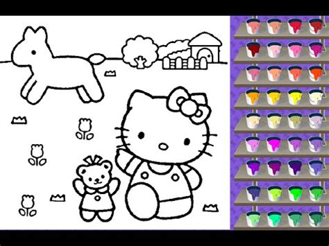 hello kitty coloring pages youtube hello kitty coloring pages coloring pages for kids youtube