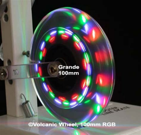 Len Großhandel Len Und Beleuchtung by Volcanic Wheel Grande Xl 4 Quot Lenkrolle Skaterrolle Mit Led