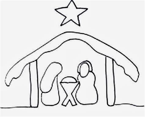 simple nativity coloring page best photos of manger scene template printable nativity