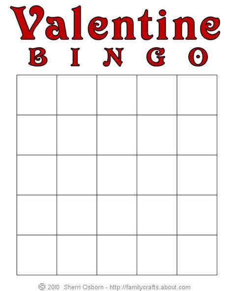8 best images of printable blank valentine s day bingo