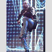 Chris Brown kic...