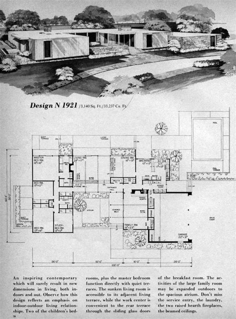 mid century floor plans 64 best images about mid century architecture on pinterest