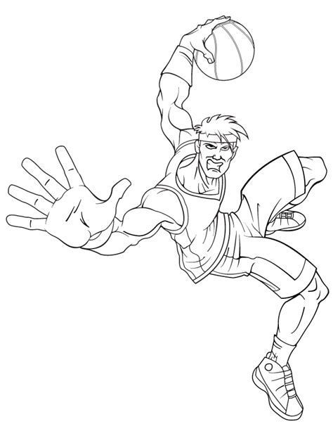 cool basketball coloring pages cool cartoon basketball player coloring page h m