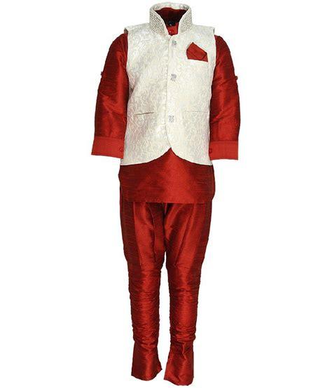 Riwaaz Cream Mehroon Color Kurta Pajama Set With Jacket | riwaaz cream mehroon color kurta pajama set with jacket