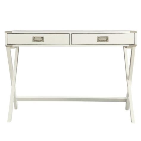 White Carved Wooden Desk White Writing Desk With Drawers