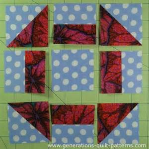 churn dash quilt block tutorial 3 quot 4 1 2 quot 6 quot 7 1 2