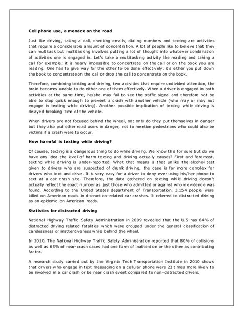 distracted driving research paper distracted driving essay 6 texting and driving essays g