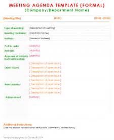 robert of order agenda template formal meeting agenda template for word dotxes