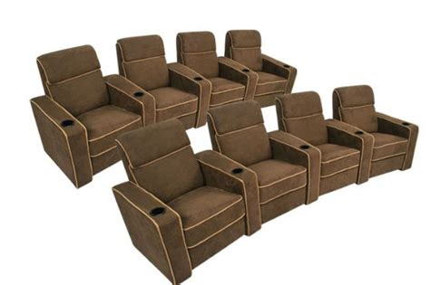 theater recliner seats lorenzo home theater seating brown recliners 8 chairs ebay