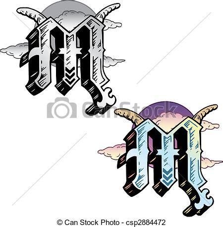 stile lettere tatuaggi tatuaggio stile pertinente lettera m simboli