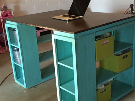 Diy Large Desk Large Diy Desk With Storage Shelves Diy Large Desk