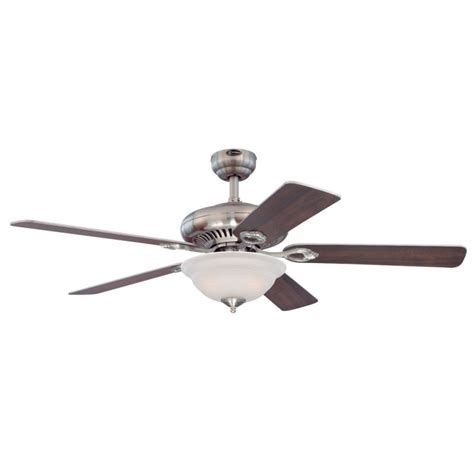 Westinghouse Ceiling Fan Light Westinghouse 7840000 Brushed Nickel Fairview 52 Quot 5 Blade Hanging Indoor Ceiling Fan With