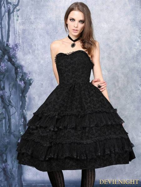 Flocking Dress black flocking corset dress devilnight co uk