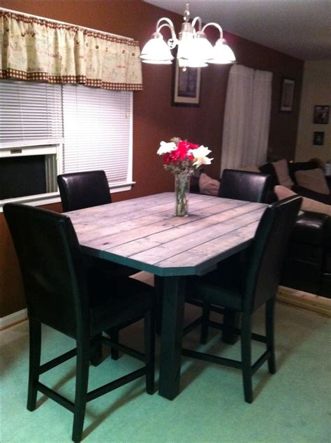 2x4 Kitchen Table High Top Table Using 2x4 S For The Home High Tops Tops And