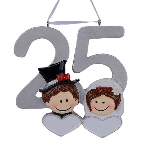 25th wedding anniversary diy gifts personalized resin diy memorial ornaments 25th