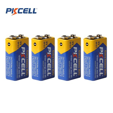 Bagusss Sport Set 2layer 4pcs set battery parts pkcell 9 v batteries 6f22 single battery zinc carbon battery