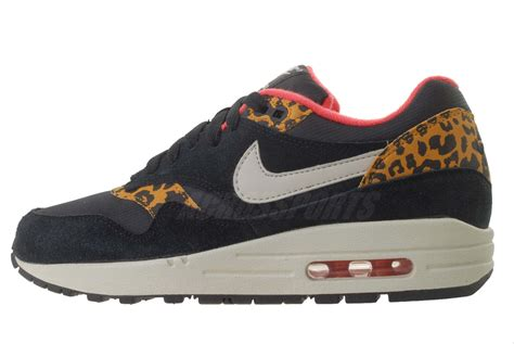 nike leopard running shoes nike wmns air max 1 black leopard animal womens running