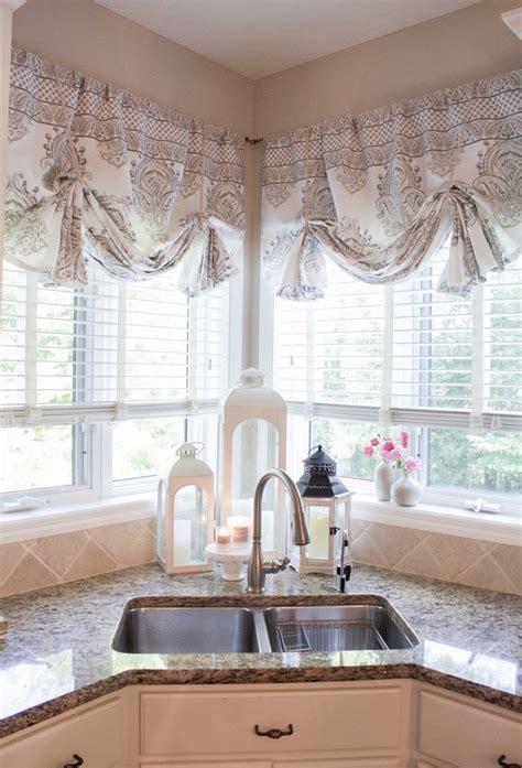 sew curtain valances farmhouse kitchen