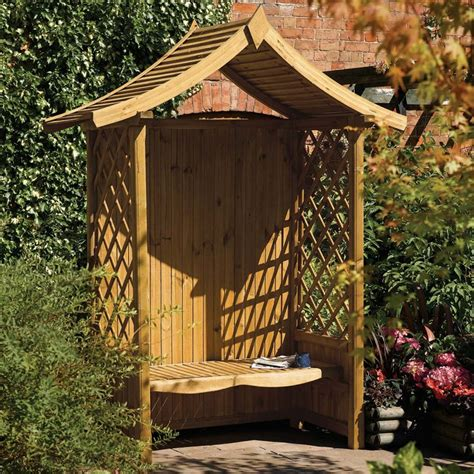 solid 3 seater garden arbour tanalised outdoor bench lattice sided wooden garden arbour bench seat courtesy of