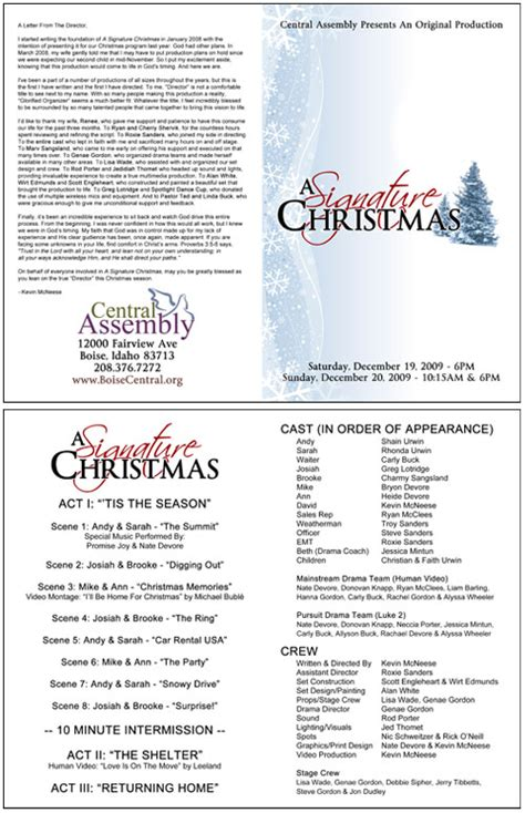 church bulletins bulletin printing template
