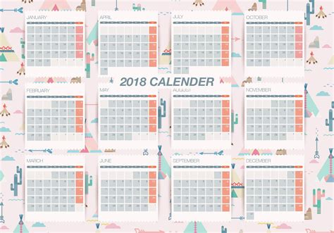 printable calendar vector pattern background printable monthly calendar vector