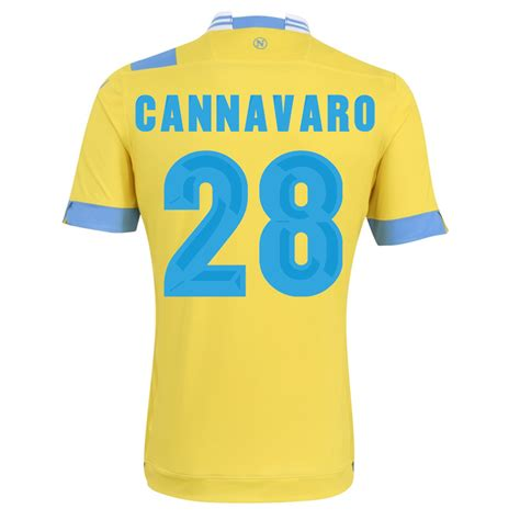 Napoli 13 14 Away 13 14 napoli 28 cannavaro away yellow jersey shirt am