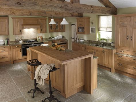 Island Kitchen Table Country Kitchen Ideas With Oak Cabinets Smith Design