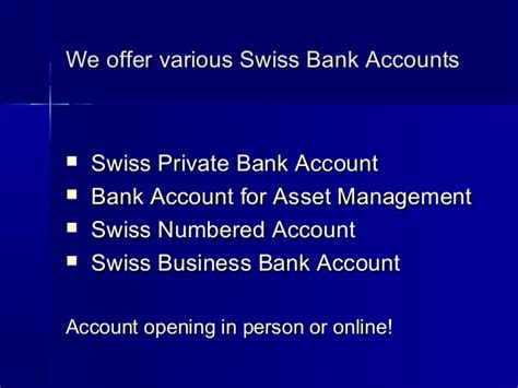 swiss bank open account swiss bank account no minimum deposit required