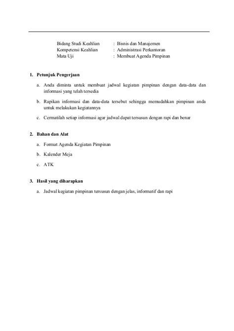 membuat agenda kegiatan perjalanan bisnis pimpinan 6045 p1 spk administrasi perkantoran
