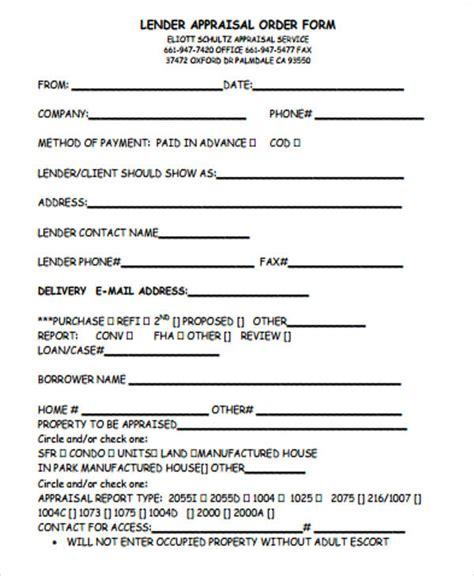 appraisal order form index of cdn 17 1996 689