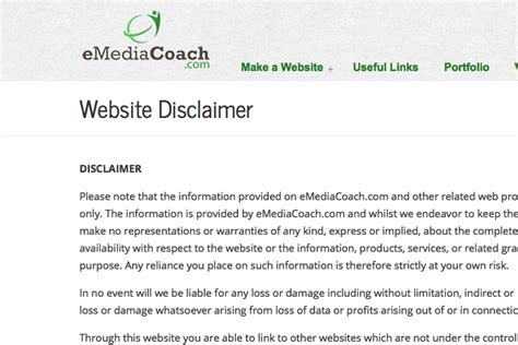 Website Disclaimer Template And Generator For 2018 Free Disclaimer Template For Website