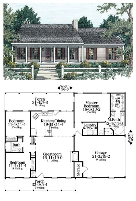open living house plans house plan 40026 total living area 1492 sq ft 3 bedrooms 2 bathrooms split bedrooms an