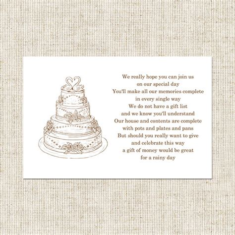 Wedding Invitation Card Poems by Gift Card Poem For Bridal Shower Wedding Cake Gift Poem