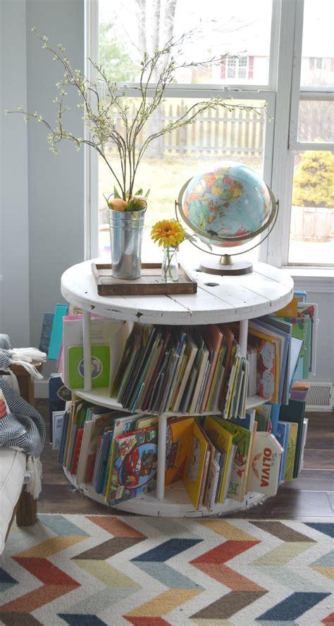 kids book storage ideas spring home tour 2016