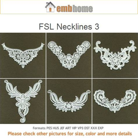 embroidery design lace free fsl necklines 3 free standing lace machine embroidery designs