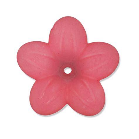 fiori di ciliegia fiori 20 mm ciliegia scurofrosted perles co