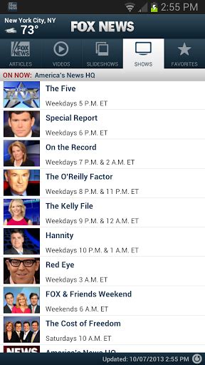 fox news android app fox news android app gets major facelift in big update to version 2 0