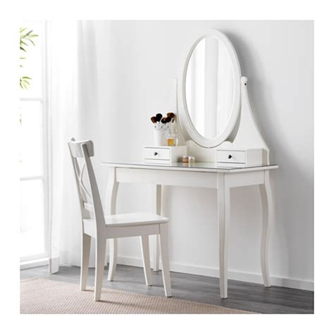 Ikea Vanity Table With Mirror And Bench Hemnes Dressing Table With Mirror White 100x50 Cm Ikea