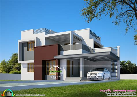 beautiful flat roof house design square feet kerala home beautiful flat roof home in 2200 sq ft kerala home