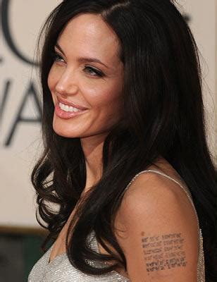 angelina jolie tattoo latitude longitude angelina jolie s tattoos easternblocklox
