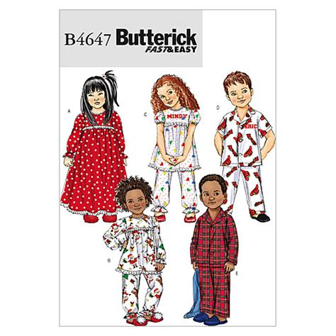 Cb 3 Pattern by Toddlers Children S Nightgown Pajama Top And Cb 1