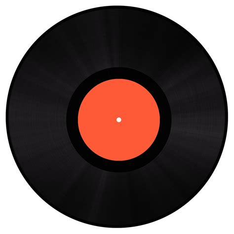 Orange Records Gramophone Record Png Www Pixshark Images